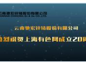 【贺】云南驰宏锌锗股份有限公司祝贺SMM成立20周年