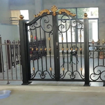 鋁藝庭院門鍛打鋁藝大門鋁合金別墅大門院門圍墻大門定制