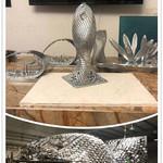 池州大型不锈钢抽象鱼雕塑 公园镂空动物雕塑定制