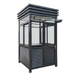 不锈钢门卫治安岗亭户外成品保安亭钢结构定做