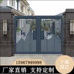農村別墅鋁藝大門圍墻門新中式大門庭院門室外門對開門定制