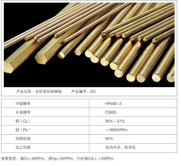 广州市南源铜材有限公司 含铅易切削黄铜001