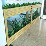 鋁合金辦公室花架屏風隔斷置物架餐廳室內落地花盆架綠植盆栽架