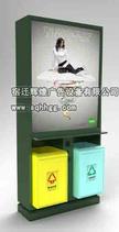 新型广告垃圾箱,垃圾箱颜色多样配置:LED,灭烟器,废电池回收