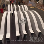 琦铝-铝方通吊顶/木纹U型铝方通招牌/铝方管吊顶/弧型铝方通