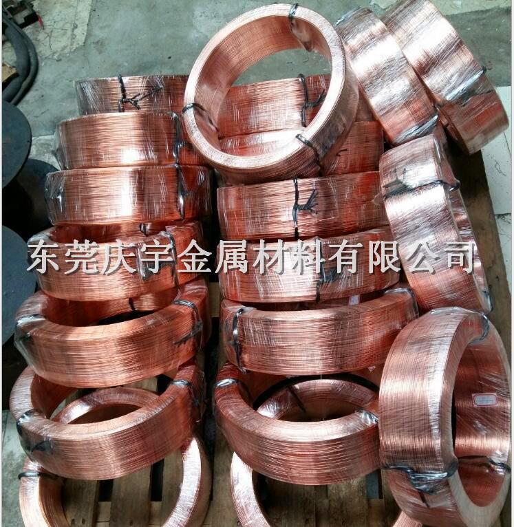 电工铜扁线,电工裸铜扁线,1*4无氧铜压扁线厂