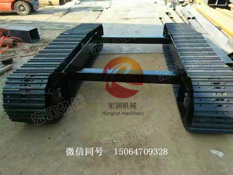 农用机械履带底盘  水田钢制履带底盘 自卸链轨翻斗车