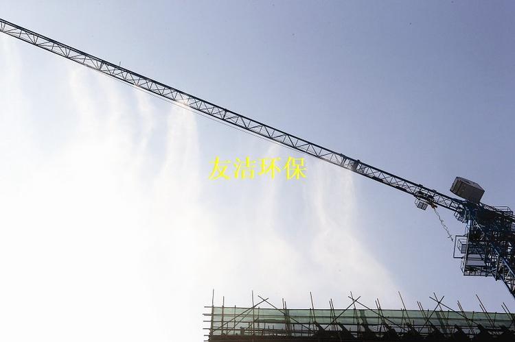 杭州塔吊喷淋安装价格,工程降尘水雾降尘装置