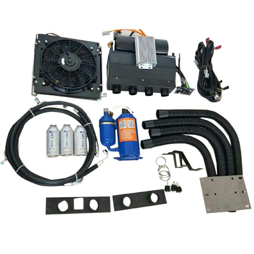 电动汽车空调载新能源电动车上是怎样工作的动汽车空调系统:纯电动汽车空调的压缩机是专门为新能源设计的,电机和压缩机是集成的。与传统压缩机相比,电动空调压缩机具有一定的优点,即使车辆关闭也能提供制冷作用;压缩机转速不受发动机转速的影响,任何工况都可以保证冷却效果;不影响车辆行驶。