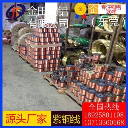 紫铜丝直径0.5 0.8 1 2 3 4 5mm 紫铜线 红铜丝 导电铜线现货直销