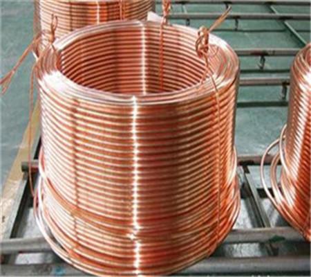 T2紫铜直管、冰箱空调用紫铜盘管塑性好