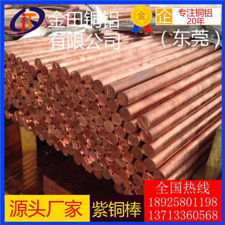 无氧紫铜棒TU1 TU2 C1020 TUO C10200无氧铜棒直销紫铜方棒