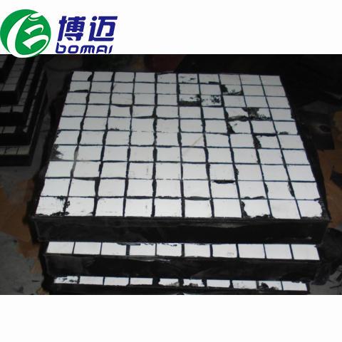 耐磨抗冲击陶瓷复合衬板 陶瓷圆柱橡胶复合板