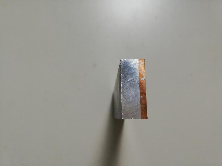 销售铜铝复合电渡极柱单面复铜30%铝80%散热器材料