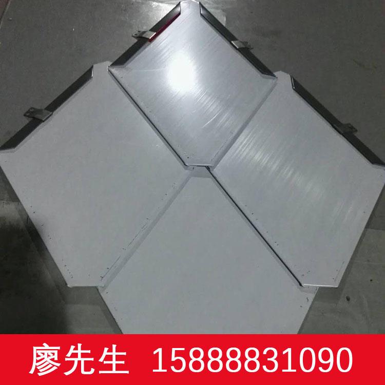 长期直销萌萧0.7mm厚铝镁锰菱形暗扣式平锁扣金属屋顶板