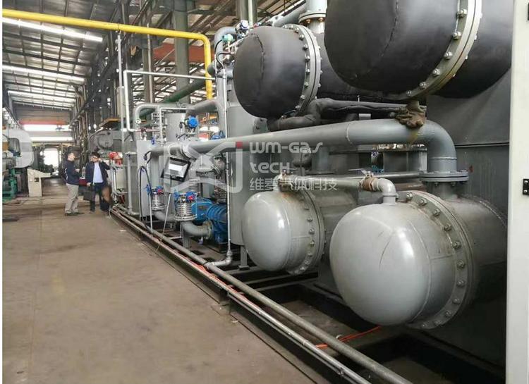 紫铜管在辊底炉中退火的氮气回收再利用系统
