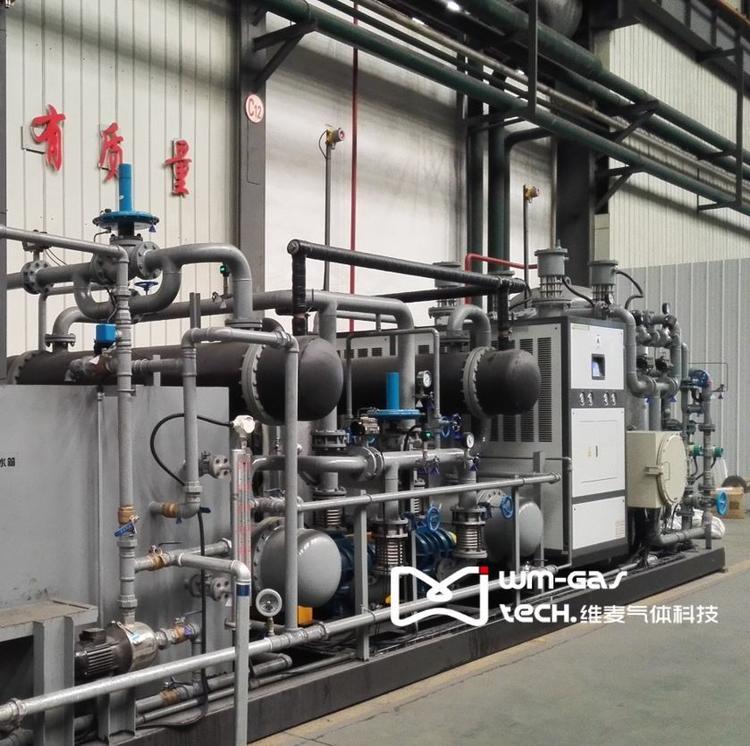 铜加工罩式炉、辊底炉退火保护气氛的气体回收系统