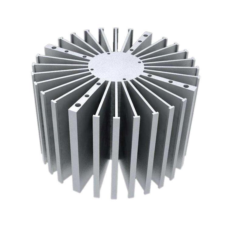 铝合金电子散热器CNC加工厂家按需定制-长鸿精密