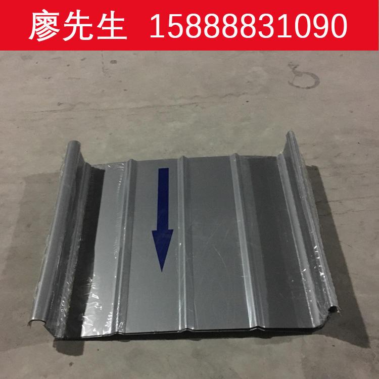 长期销售0.9mm厚YX65-430型铝镁锰直立锁边暗扣式金属屋面瓦