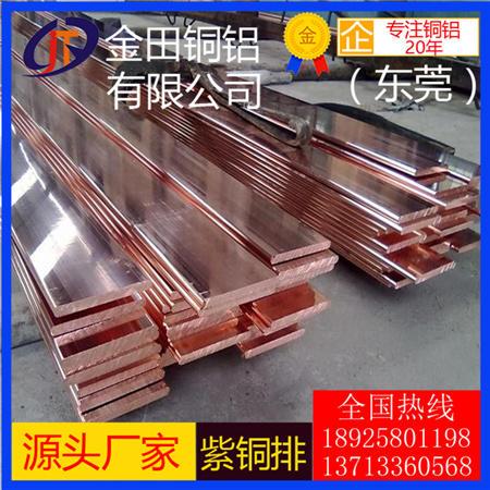 现货T1 T2 T3紫铜排紫铜方棒厂家 接地紫铜排 C1100导电紫铜排