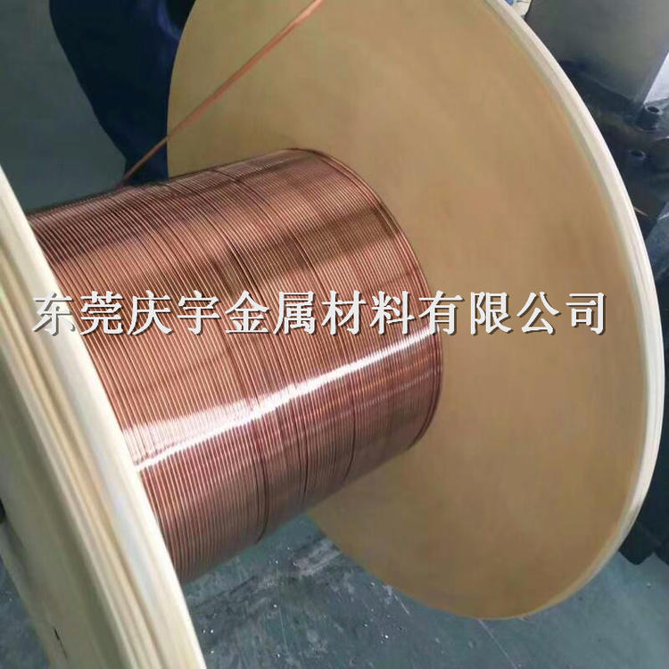 灯饰导轨条紫铜扁线,轨道条紫铜扁线,0.6*3.6MM红铜
