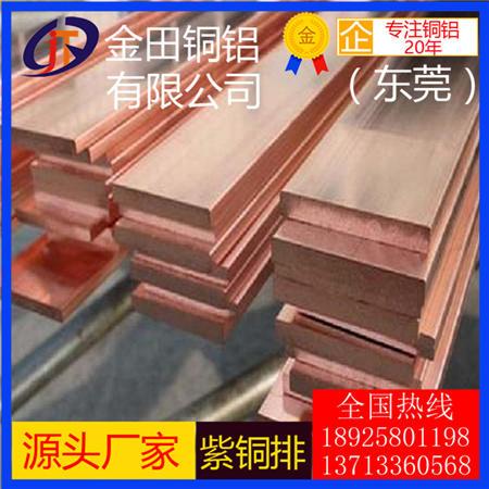 TU1无氧紫铜排TU2 TU0无氧紫铜排直销 C1020红铜方棒现货紫铜块