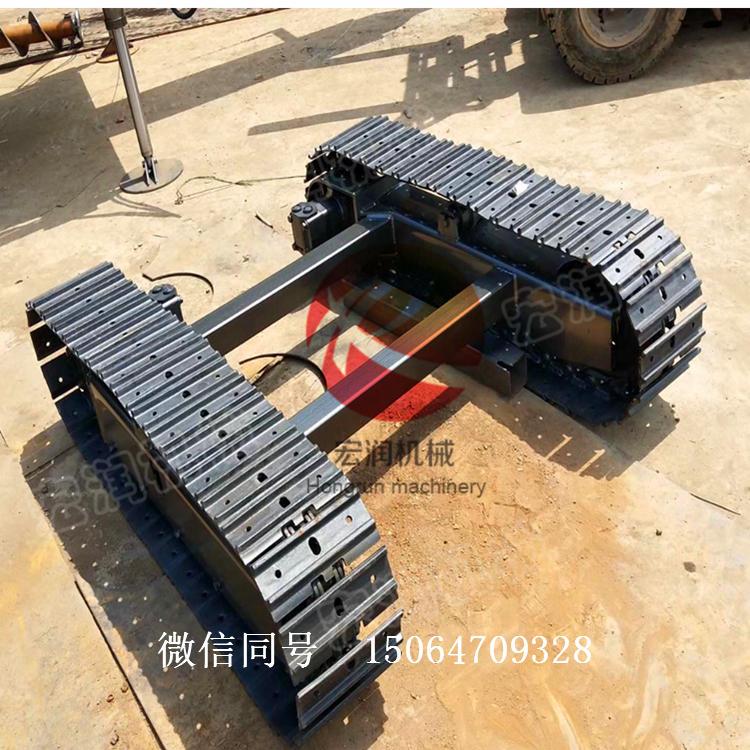 履带钻机底盘价格 钢制履带底盘 3-10吨工程橡胶履带底盘
